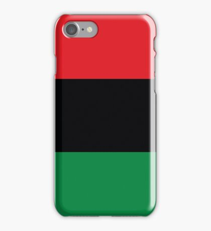 Red, Black & Green Flag iPhone Case/Skin