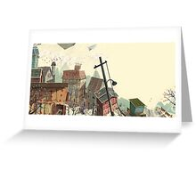 Paper city Greeting Card