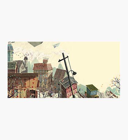 Paper city Photographic Print