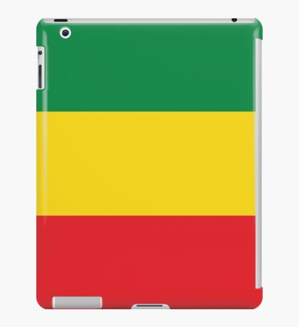 Green, Gold & Red Flag iPad Case/Skin