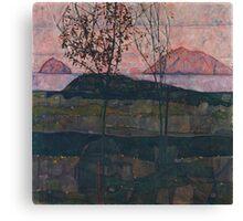 Egon Schiele - Setting Sun 1913  Expressionism Landscape Canvas Print