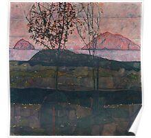 Egon Schiele - Setting Sun 1913  Expressionism Landscape Poster