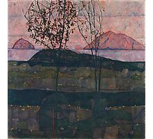 Egon Schiele - Setting Sun 1913  Expressionism Landscape Photographic Print