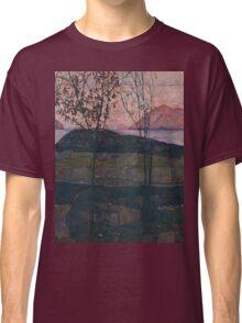 Egon Schiele - Setting Sun 1913  Expressionism Landscape Classic T-Shirt