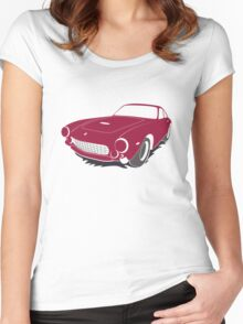 Angry car Women's Fitted Scoop T-Shirt