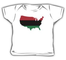 African American _ Red, Black & Green Colors Baby Tee