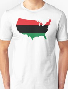African American _ Red, Black & Green Colors Unisex T-Shirt