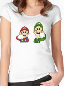 Hipster Mario Bros  Women's Fitted Scoop T-Shirt