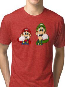 Hipster Mario Bros  Tri-blend T-Shirt