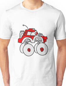 cool giant monster truck comic eyes face cartoon cars turbo Unisex T-Shirt
