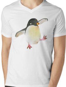 Dancing Penguin Mens V-Neck T-Shirt
