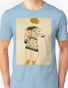 Egon Schiele - Standing Woman in a Patterned Blouse 1912 Unisex T-Shirt