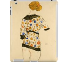 Egon Schiele - Standing Woman in a Patterned Blouse 1912 iPad Case/Skin