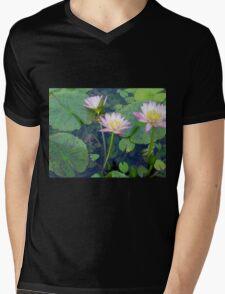 Lotus Trio Mens V-Neck T-Shirt