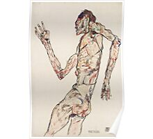Egon Schiele - The Dancer 1913  Expressionism  Portrait Poster