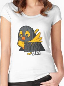 Sneaky Beaky Like Women's Fitted Scoop T-Shirt