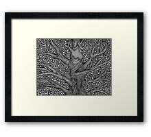 Witch and Wizard Tree Framed Print