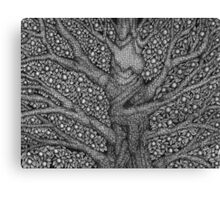 Witch and Wizard Tree Canvas Print