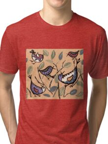 The Other Branch: Birds by Alma Lee Tri-blend T-Shirt