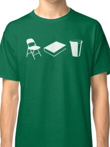 Folding chairs, books and coffee Classic T-Shirt