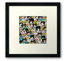 The boring Cats Framed Print