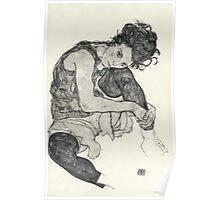 Egon Schiele - Zeichnungen I. 1917  Expressionism Woman Portrait Poster