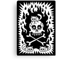 Death, Destruction and Fluffy Kittens Canvas Print