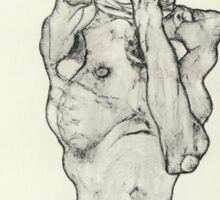 Egon Schiele - Zeichnungen II. 1914  Expressionism  Portrait Sticker