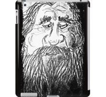 rough beard iPad Case/Skin