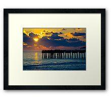 Sunrise at the Pier Framed Print