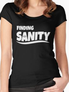 finding sanity Women's Fitted Scoop T-Shirt