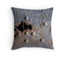 Abstract: Blue Throw Pillow