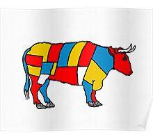 Mondrian Cow Poster