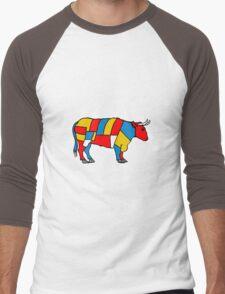 Mondrian Cow Men's Baseball ¾ T-Shirt