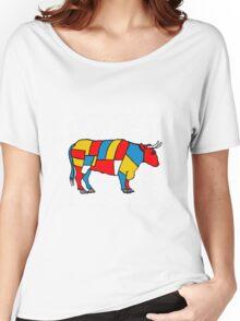 Mondrian Cow Women's Relaxed Fit T-Shirt