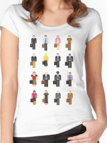 The Office: Characters Women's Fitted Scoop T-Shirt
