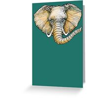 Floating Elephant Head - colorized Greeting Card