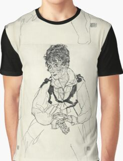 Egon Schiele - Zeichnungen XI 1917 Woman Portrait  Graphic T-Shirt