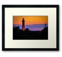 Jupiter Lighthouse at Sunset Framed Print