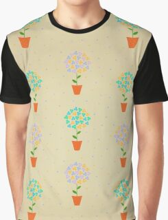 Floral Pattern Illustration Graphic T-Shirt