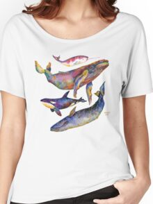 Four Whales Pyramid Women's Relaxed Fit T-Shirt
