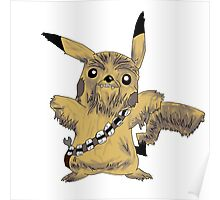 Chewbacca Pikachu - Star Wars Poster