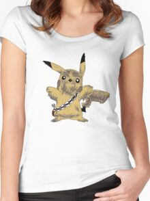 Chewbacca Pikachu - Star Wars Women's Fitted Scoop T-Shirt