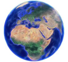 Planet Earth - Europe and Africa Photographic Print