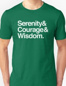 Serenity, Courage & Wisdom Unisex T-Shirt