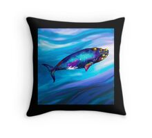 BowHead WHale Swimming Along Throw Pillow