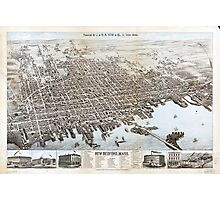 View of the City of New Bedford, Massachusetts (1876) Photographic Print