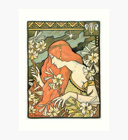The Red-Haired Lady (Ermitage) art nouveau masterpiece Art Print