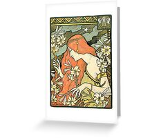 The Red-Haired Lady (Ermitage) art nouveau masterpiece Greeting Card