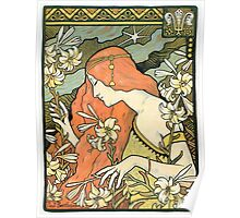 The Red-Haired Lady (Ermitage) art nouveau masterpiece Poster